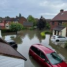 Peel Place in Clayhall shortly after Sunday's flood