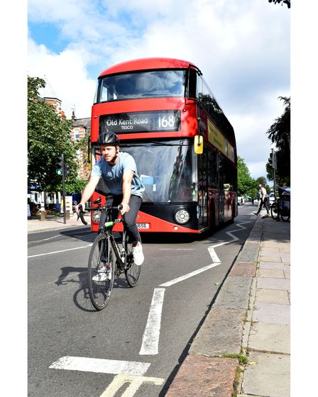 Haverstock Hill cycle lanes