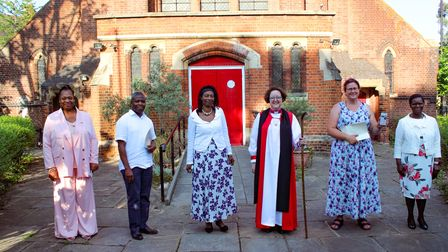 The Bishop of Stepney the new Pastoral Assistants.