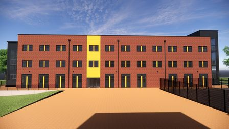 Artist's impression of the new block at Ormiston Victory Academy on Middleton Crescent, Costessey.