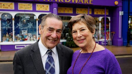 The owners of K Hardware in CromerPaul and Yvonne Kirkham. Picture: MARK BULLIMORE