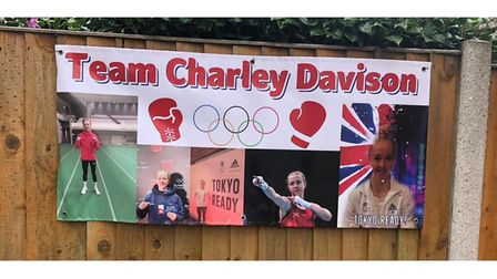 One of the banners on display in Lowestoft, supporting Charley Davison.