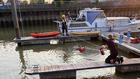 Wisbech Fire Station refreshing water rescue skills