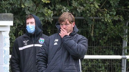 Jack Metcalfe (right) is the new London Colney manager after Ken Charlery (left) took a step back.