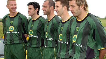 Norwich City's new Away Kit for next season being unveiled at Lotus Cars HQ, Hethel Picture: Jam