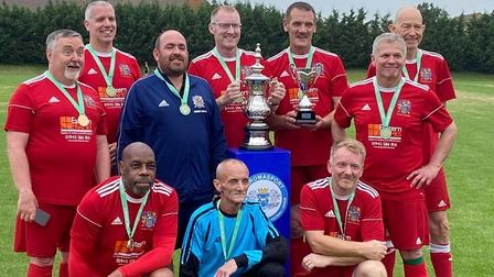 Wisbech Town's walking footballers crowned league champions