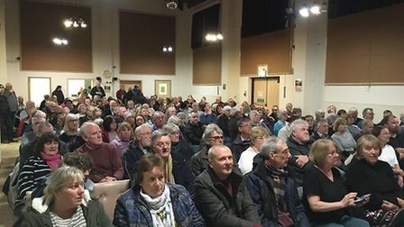 A parish meeting to discuss the future of Attleborough Town Council was held at Connaught Hall. Pict