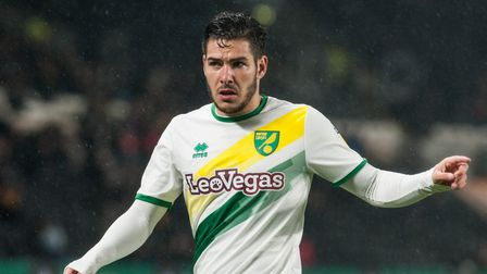 Emi Buendia of Norwich City during the Sky Bet Championship match at the KCOM Stadium, HullPicture