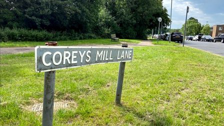 The sign at the corner of Coreys Mill Lane and North Road, Stevenage - where a proposal for a 5G mast has been submitted