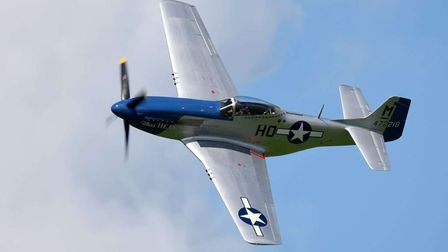 A P51 Mustang will be at the 2021 Gransden Show
