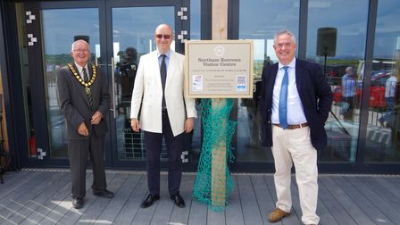 (L to R) Councillor Nick Laws, Stuart Brocklehurst and Sir Geoffrey Cox MP