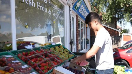 Virginia Nurseries have opened a fruit and veg shop down Foxhall Road Picture: CHARLOTTE BOND