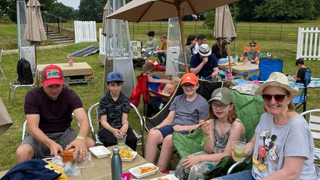 Families enjoyed the fun day and sunny weather
