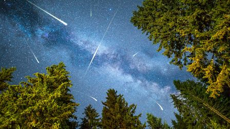 A view of a Perseid meteor shower.