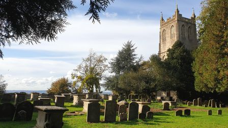The tower of the old church, in St. Mary's churchyard
