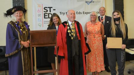 Dignitaries at the St-Eds Training Centre 2021 awards ceremony.