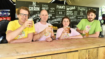Derek Robertson and his team behind the bar atLaugh In The Park 2021.