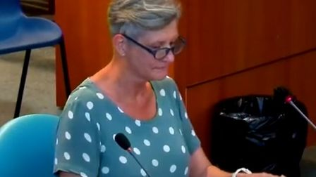 Jenny Denny at the Bristol Airport inquiry
