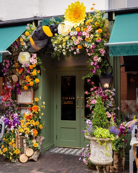 The bee-themed display at The Ivy St Albans.