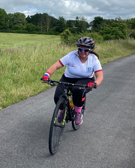 Jade is currently training hard to take on the triathlon