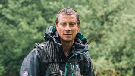 TV adventurer Bear Grylls pictured out in the wilds.
