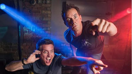 The TV presenters Dick and Dom.