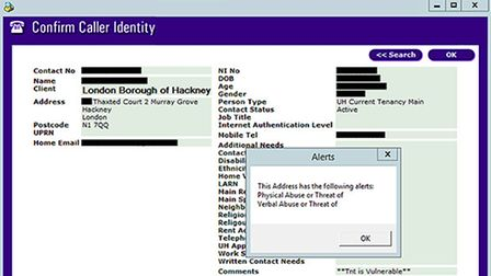Another file made public by accident showed sensitive biographical information for a 'vulnerable' tenant.