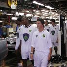 Picture shows: Norwich City players view the Proton factory as part of their tour of Malaysia. St