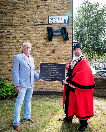 John Williams, whose relatives lost their lives in the attack; and Mayor of Islington Cllr Gallagher