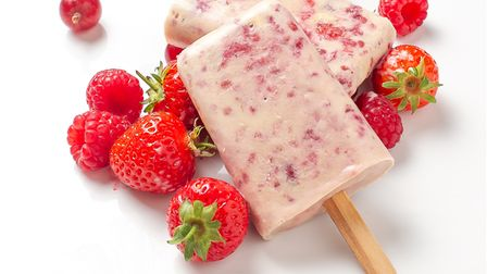 Summer berry milk lolly - with your choice of summer fruits