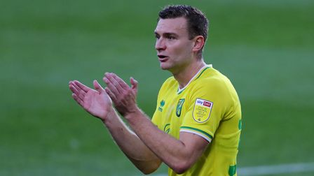 Norwich City's Ben Gibson during the Sky Bet Championship match at the Riverside Stadium, Middlesbro