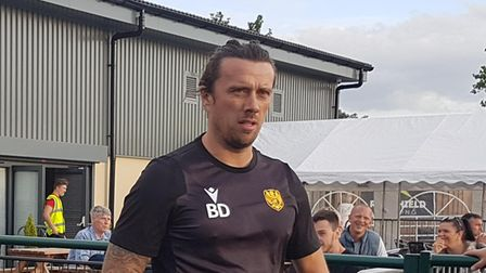 Brett Donnelly, manager of Stotfold FC