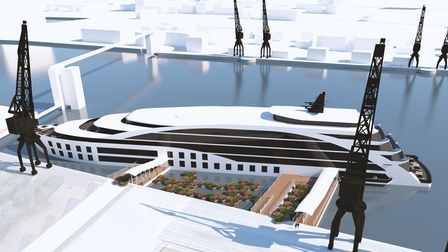 An artist's impression of the proposed new hotel which could generate 45 full time jobs.