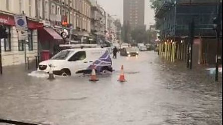The Westminster floods on July 12