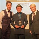 """Robin Smith, centre, has lived in Hampstead for 30 years and is now officially a """"business hero"""""""