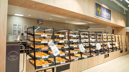 The new shop also contains an extensive bakery section.