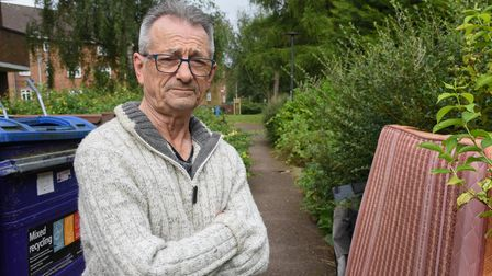 Michael Stewart-Watling who is angry over the lack of action on fly-tipping and rats on Cherry Close