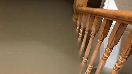 The basement ofMuhammad Salim Akhtar's home in Woodford Green filled with flood water.