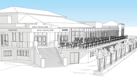 How the Spa Pavilion will look after the expansion project is built