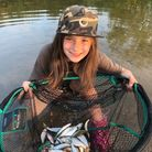 Lana Bartlett with her haul of roach from the River Great Ouse