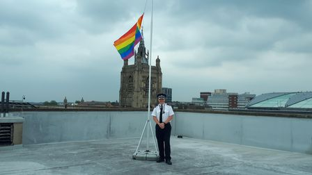 Norfolk Police showing its support for Norwich Pride.