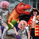 Pride town crier, Mike Wabe, launches Norwich Pride with a special cry and drag queens the Squirrels