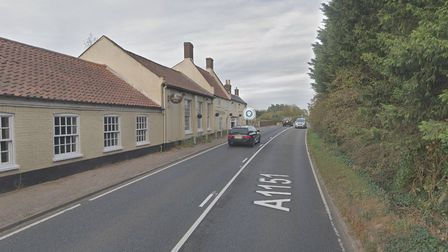 The Green Man restaurant near to where two vehicles crashed on July 31, 2021.