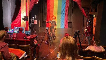 TItania Trust performing for the Norwich Pride 2021 live streamed event from Norwich Puppet Theatre.