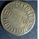 A drinker's token from the Three Tuns in Honiton