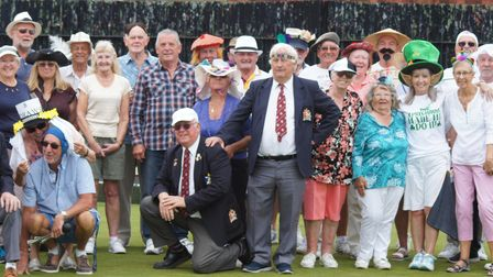 Members ofPaignton Bowling Club during their social open day.