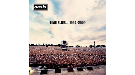 The album cover of Oasis greatest hits Time Flies... 1994-2009 features a picture of the band's 1996 Knebworth concerts.