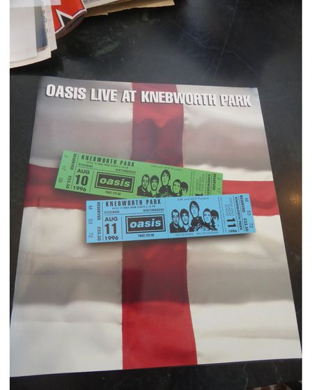 The programme for Oasis' 1996 Knebworth gigs.