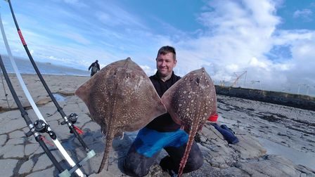 Will Booth with 2 Thornback Rays