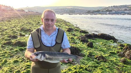 Andy Young with an Estuary caught Bass